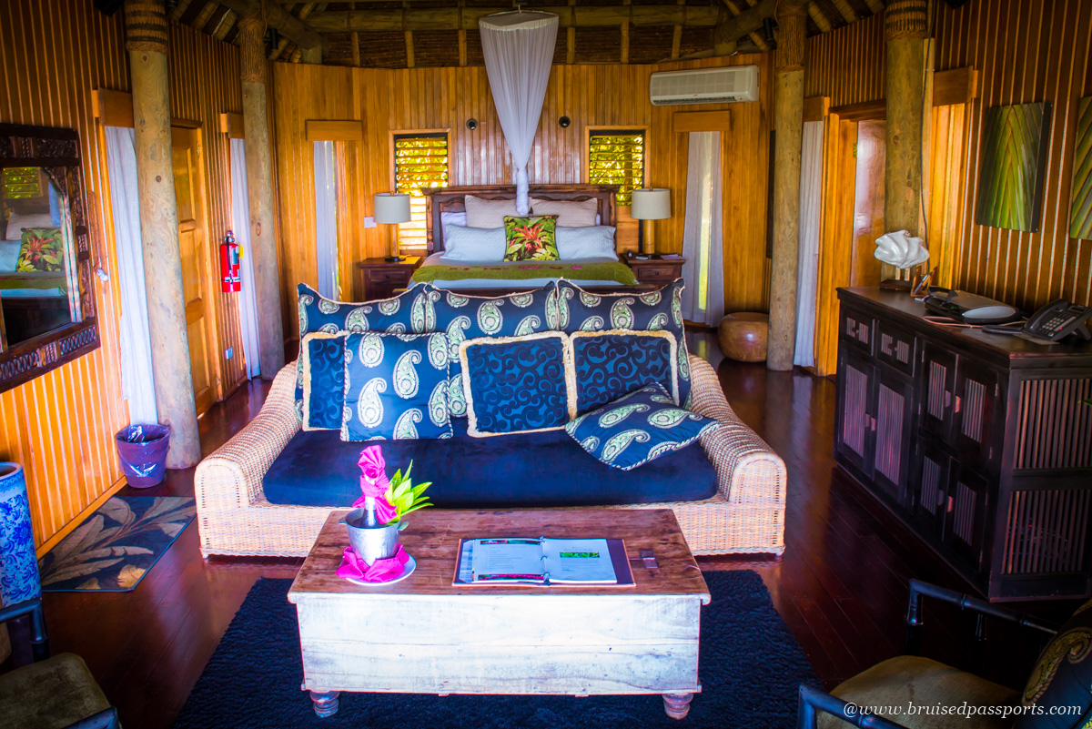 Master bedroom at one bedroom villa in Namale Resort and Spa Fiji