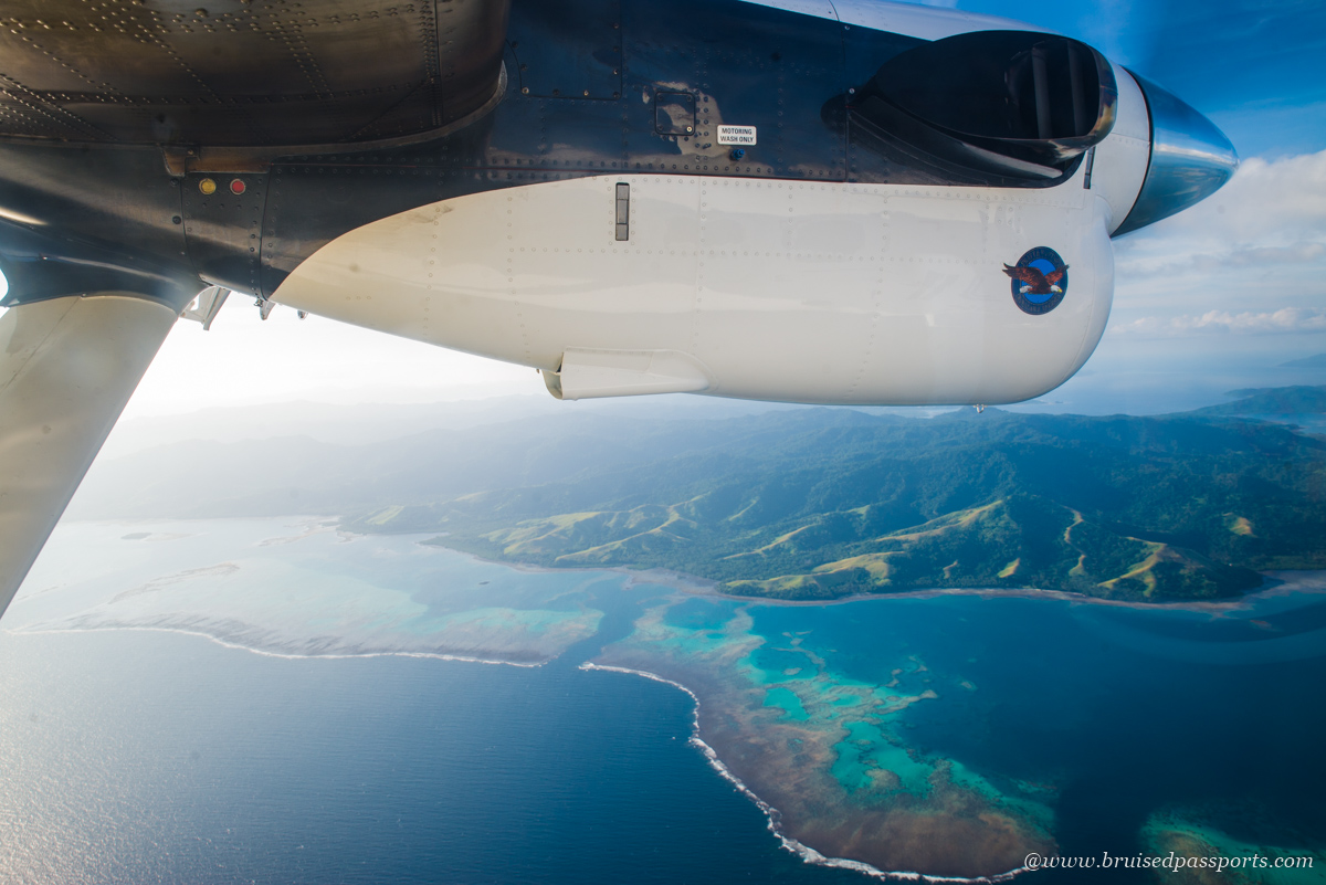 fiji airways domestic scenic flight from Nadi to Savusavu