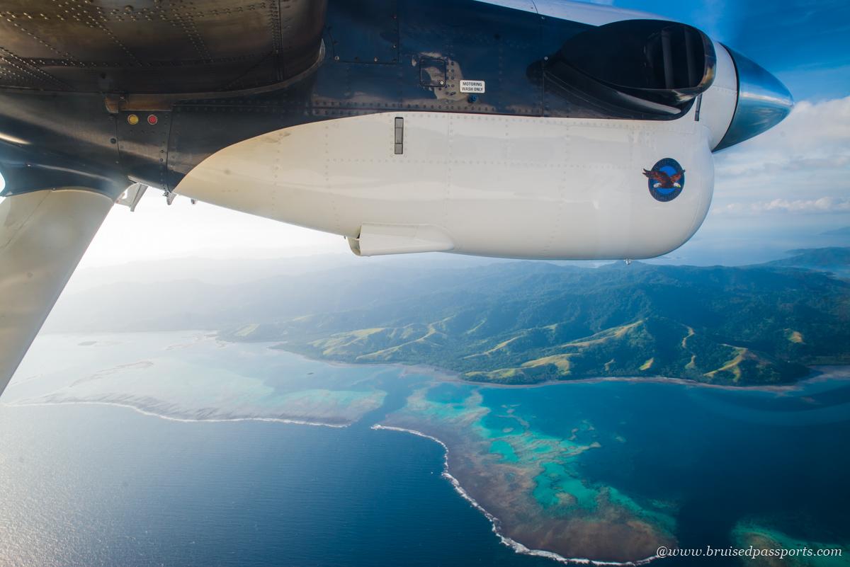 fiji airways domestic scenic flight from Nadi to Savusavu