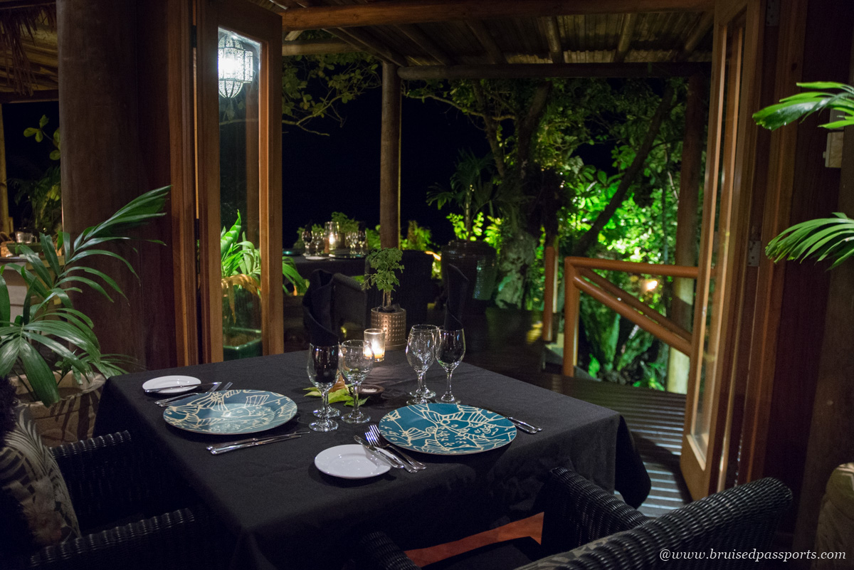 Main bure dining restaurant at Namale Resort and Spa Fiji