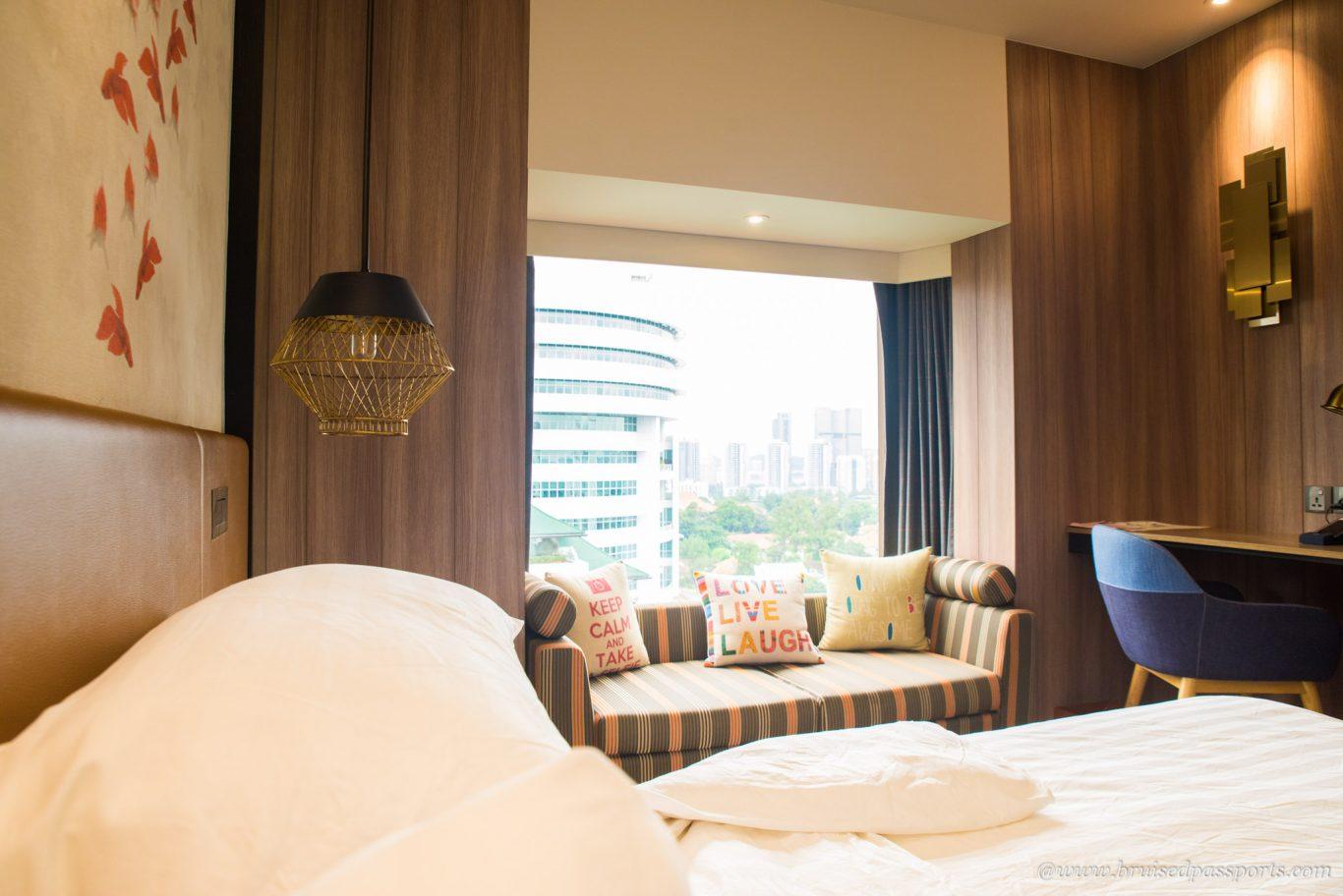 Room at hotel Jen Tanglin Singapore