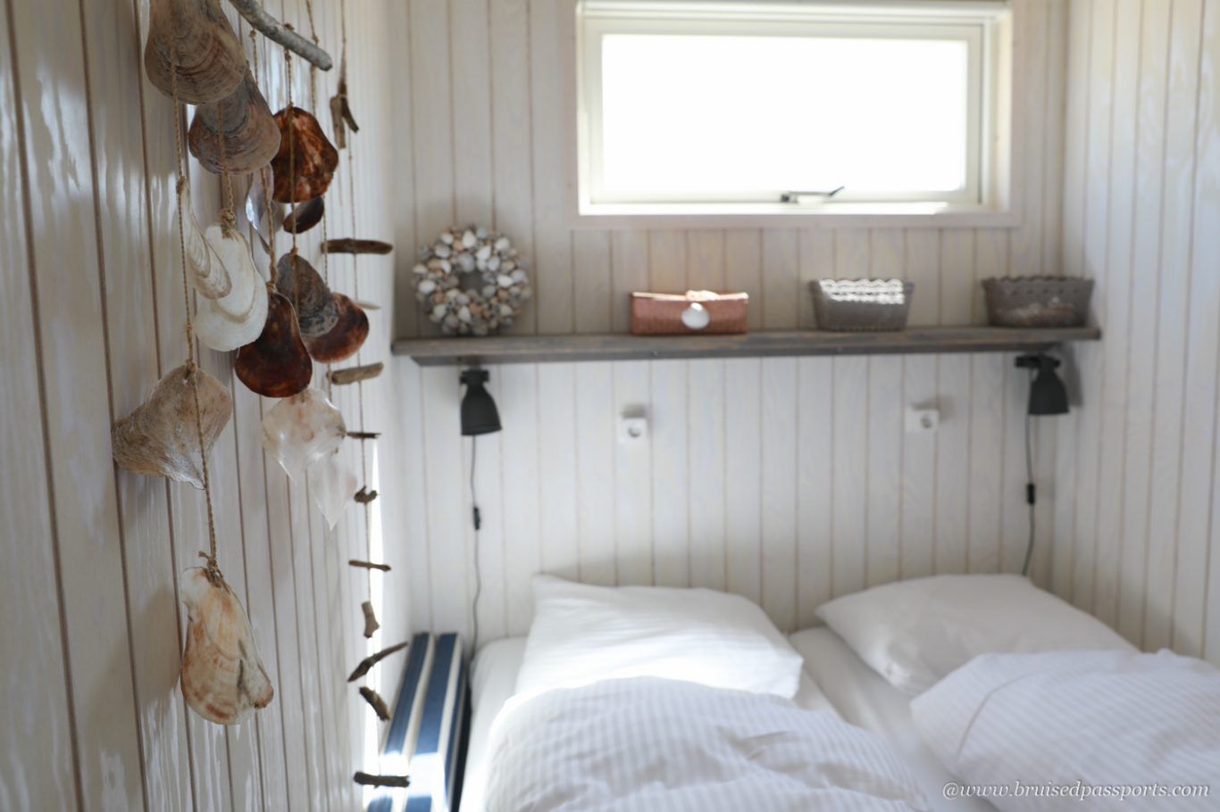 bedroom in the beach house at The Hague