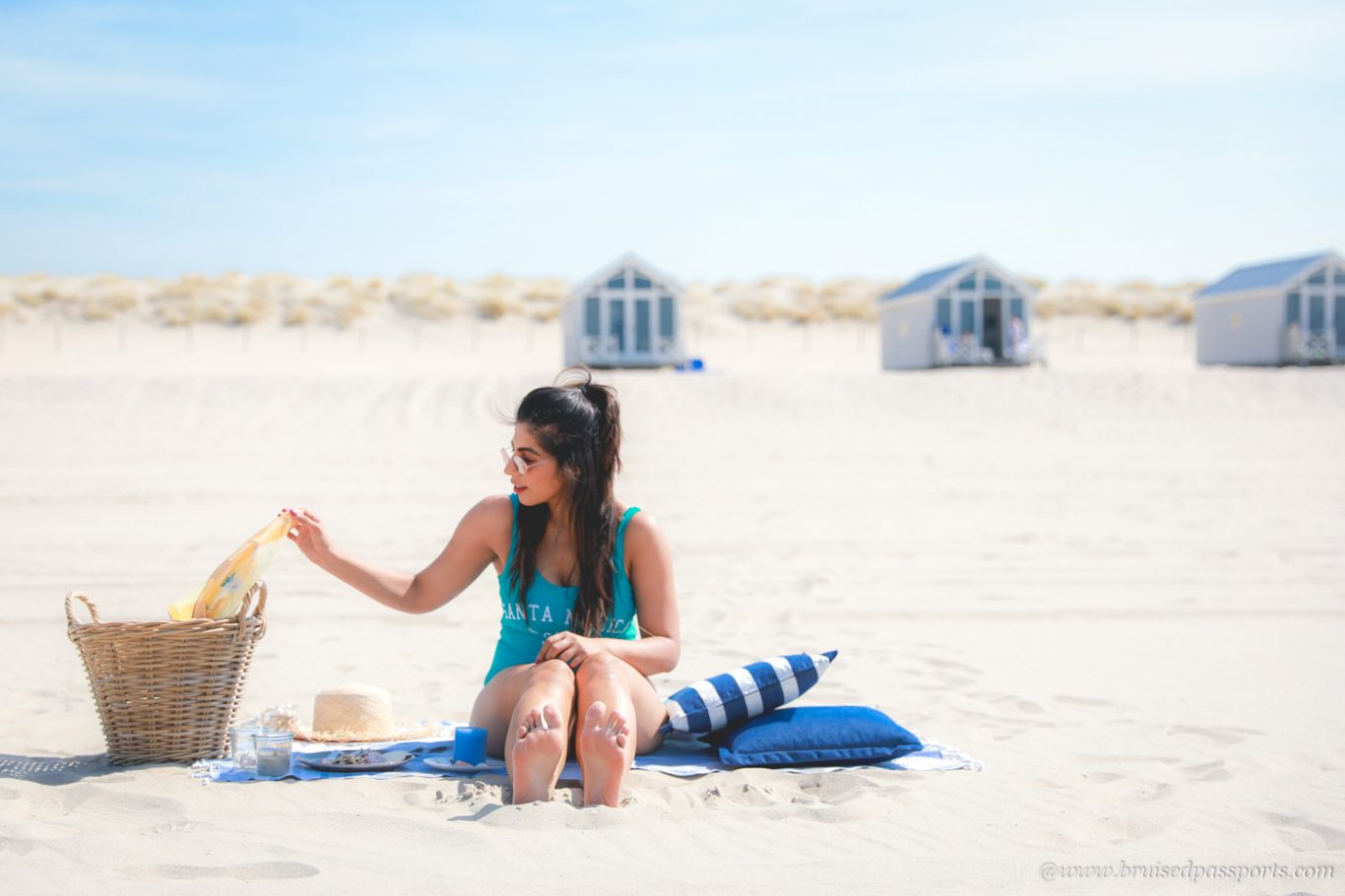 girl chilling at the beach in The Hague