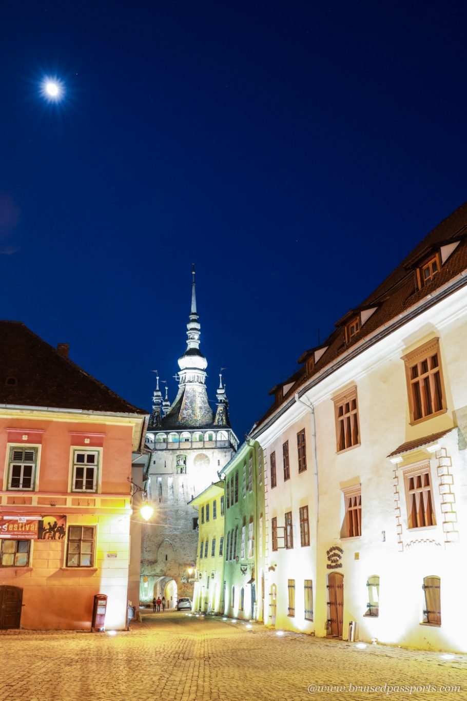 Sighisoara at blue hour