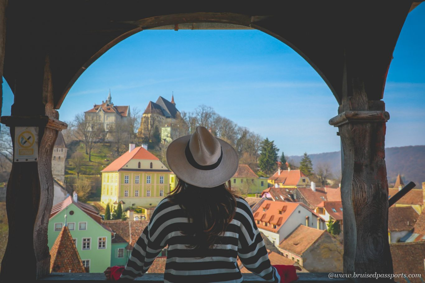 Sighisoara clock tower view