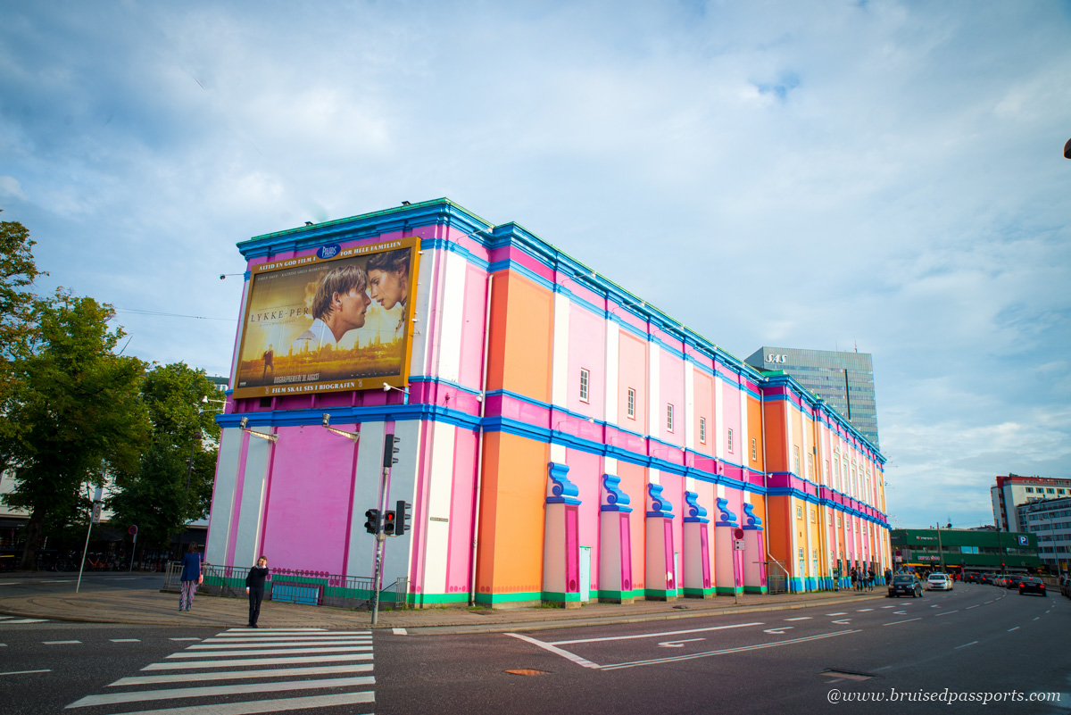 Colourful cinema hall Palads Teatret in Copenhagen