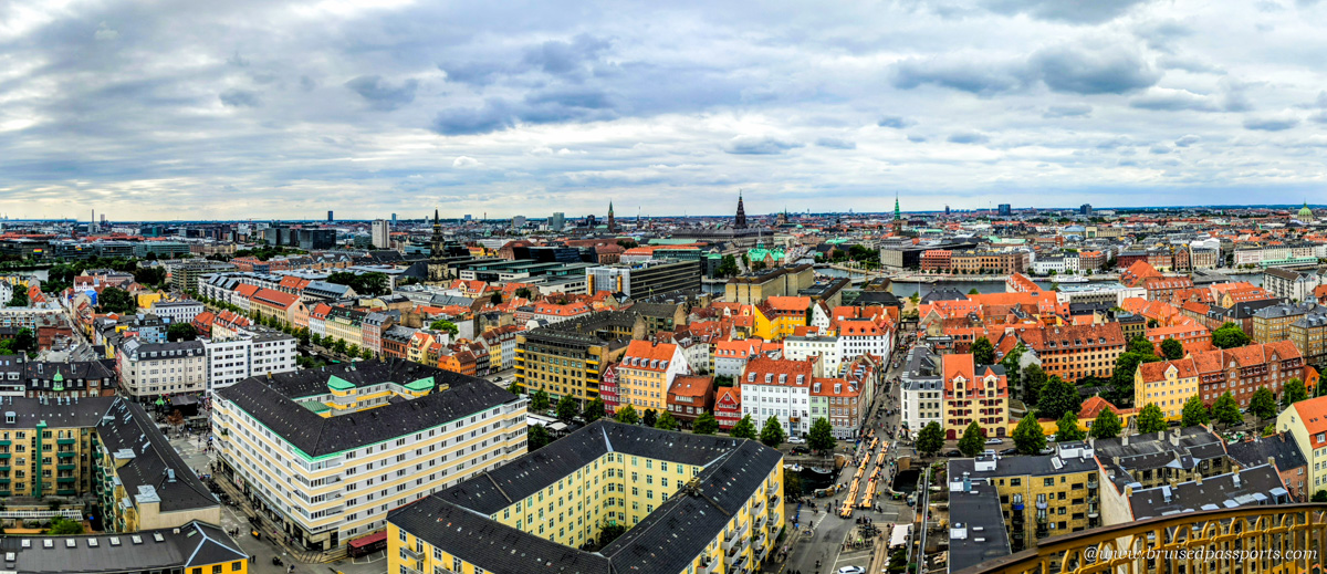 panoramic view from church of our saviour in Copenhagen