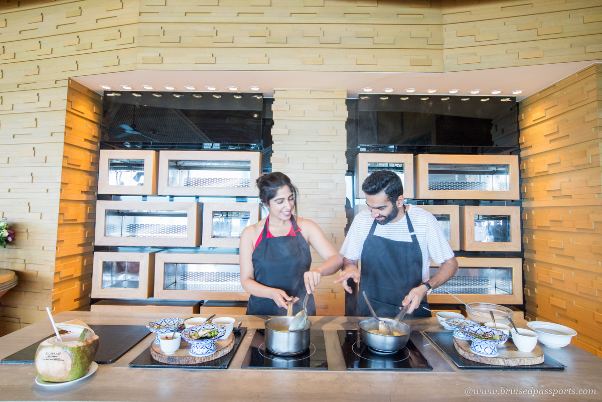 thai cooking class at Conrad Koh Samui