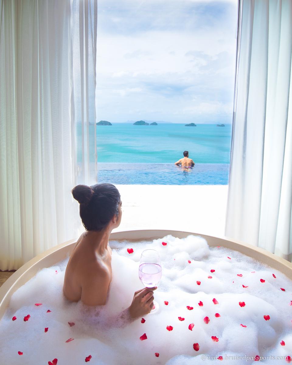 signature bath experience at Conrad Koh Samui Thailand