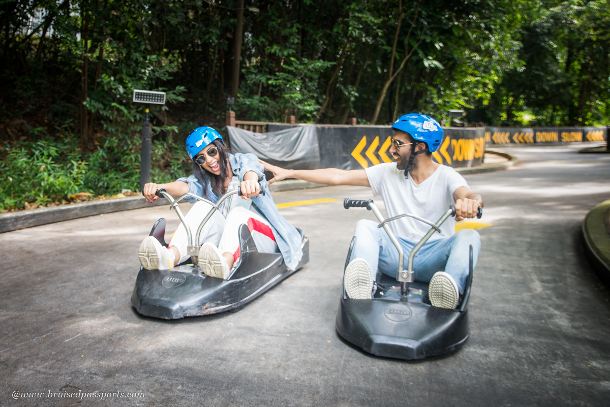 luge ride in Sentosa Singapore