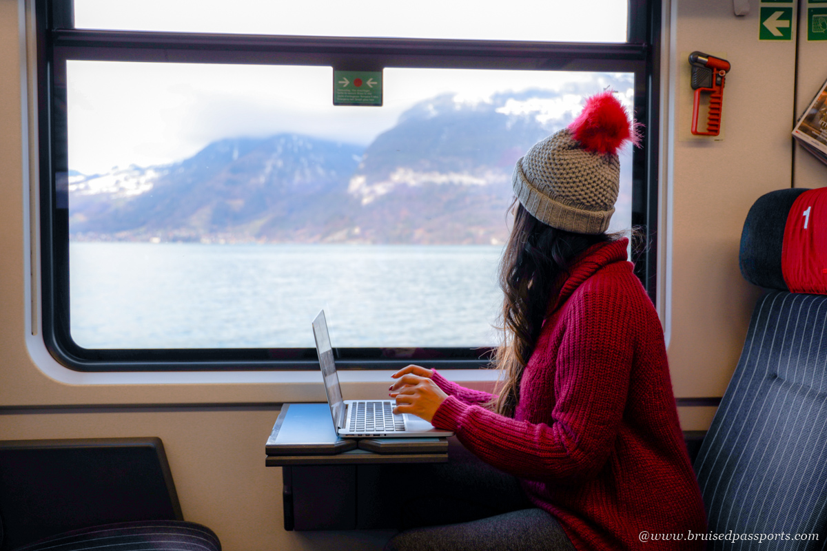 travelling by train in Switzerland using swiss travel pass