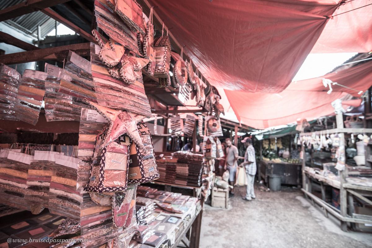 spice market in Stone town Zanzibar