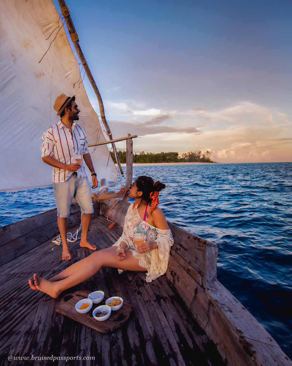 dhow boat cruise at Sunset in Zanzibar