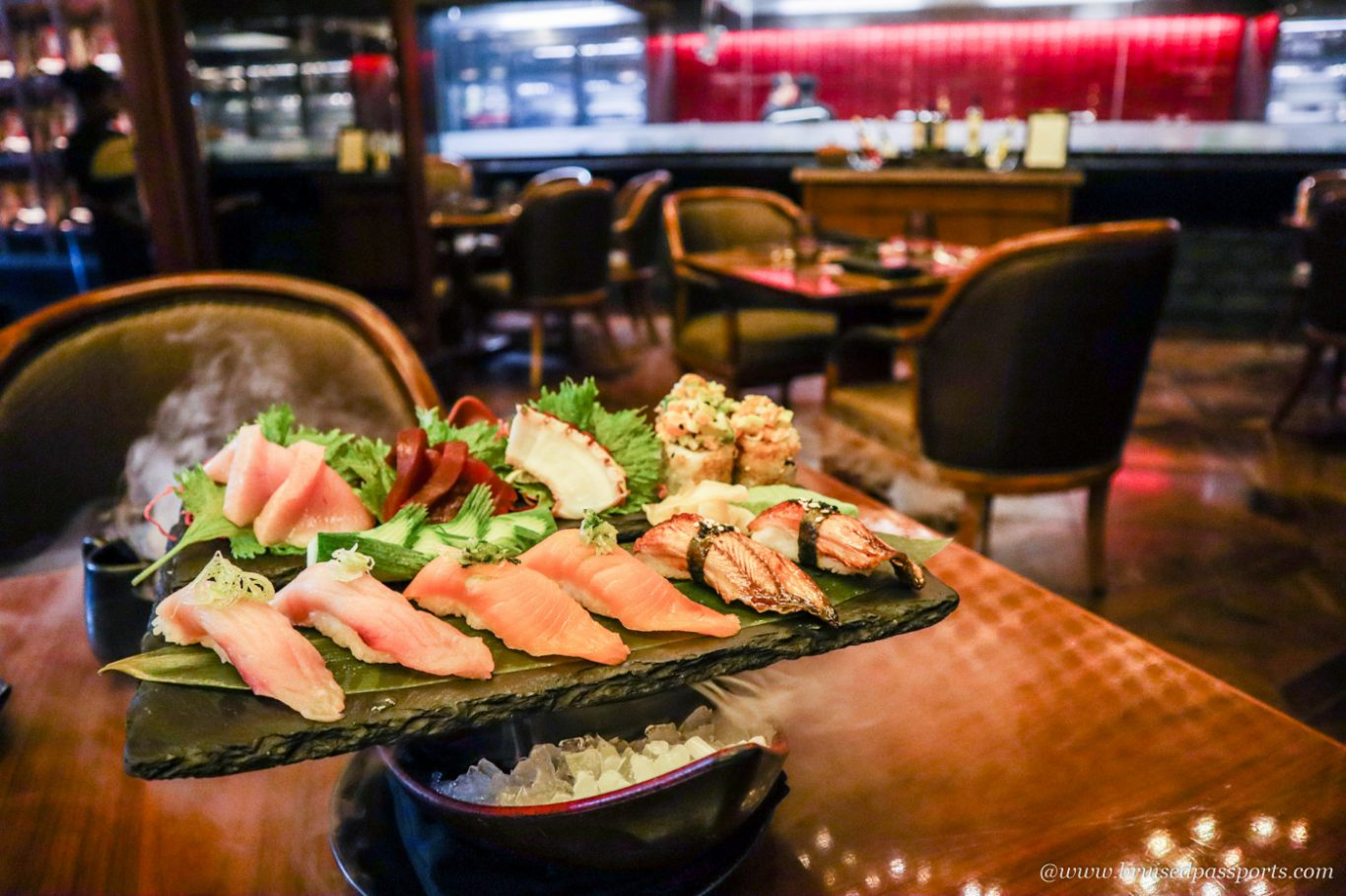 sushi platter at Koji