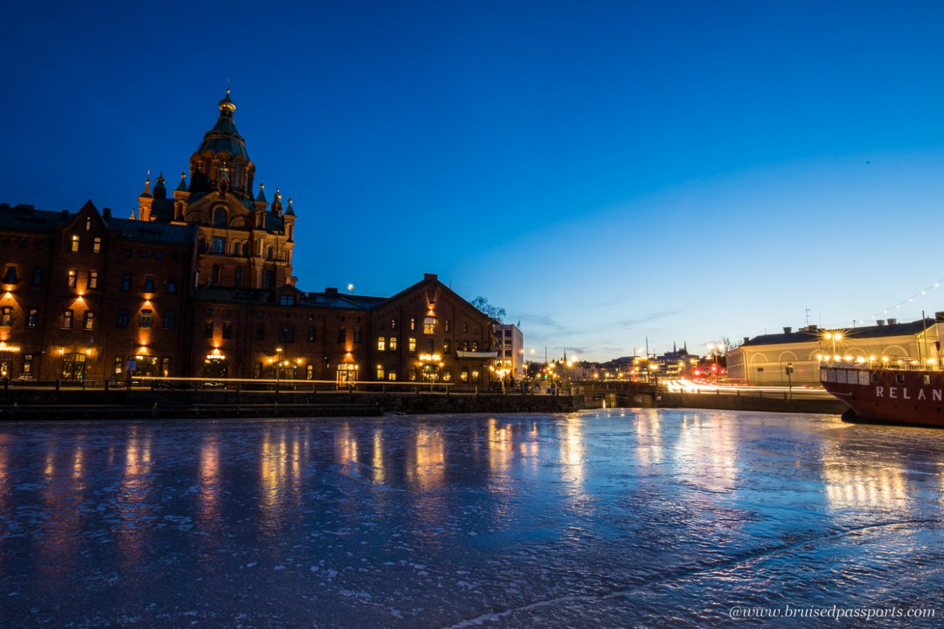 Sunset in Helsinki by Upenski cathedral