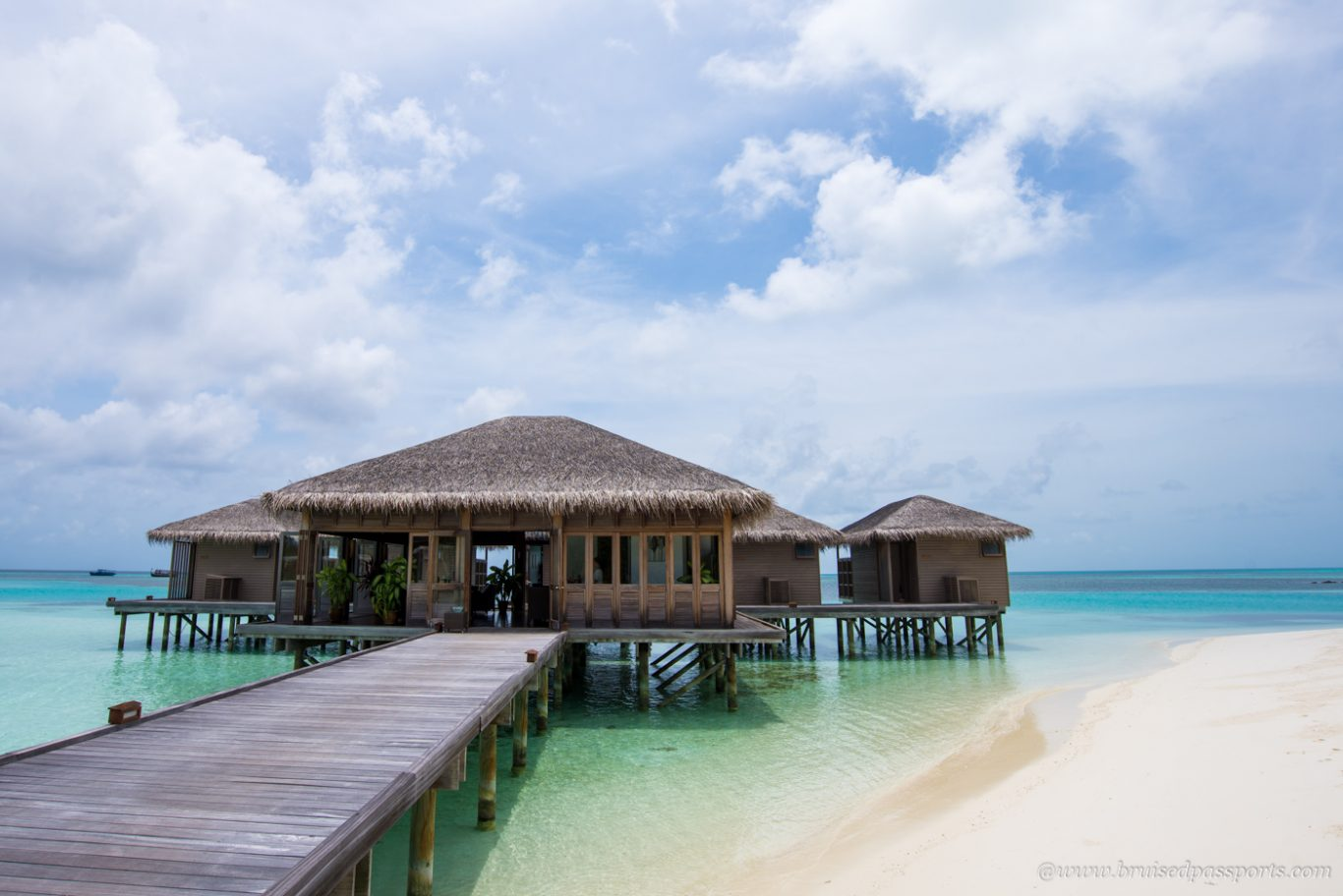 Over water villas at Club Med Finolhu Maldives