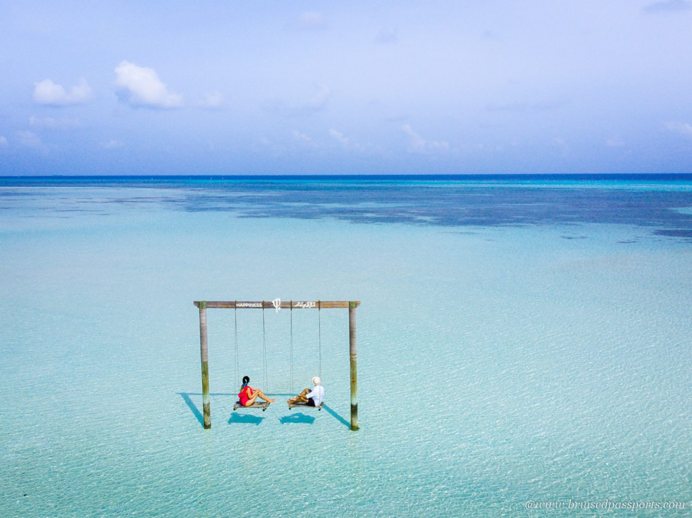 Overwater Swing at Club Med Finolhu Maldives
