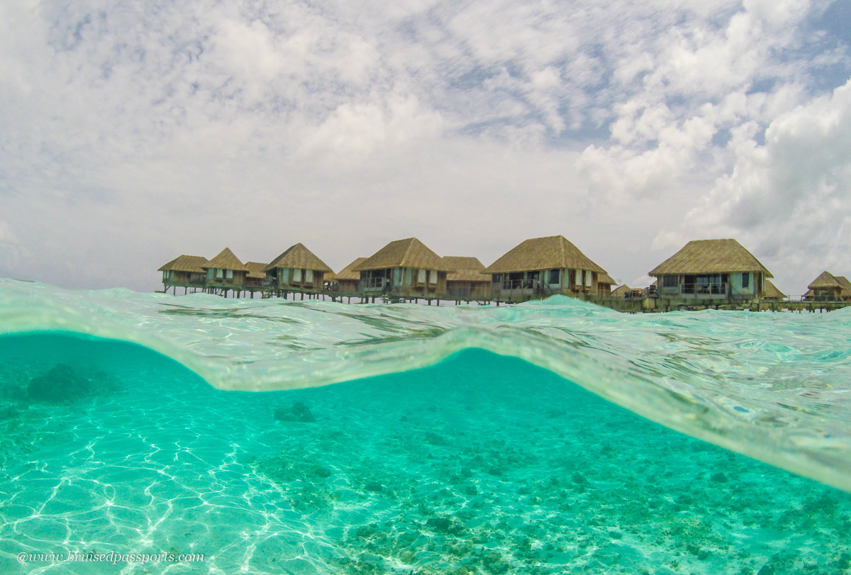 snorkelling at Club med Kani Maldives