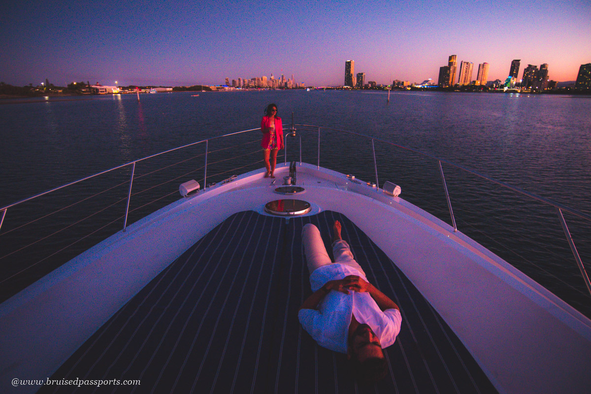 sunset yacht charter Gold Coast