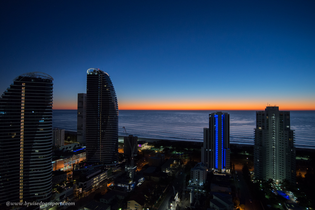 Sunrise views from apartments at Avani Broadbeach