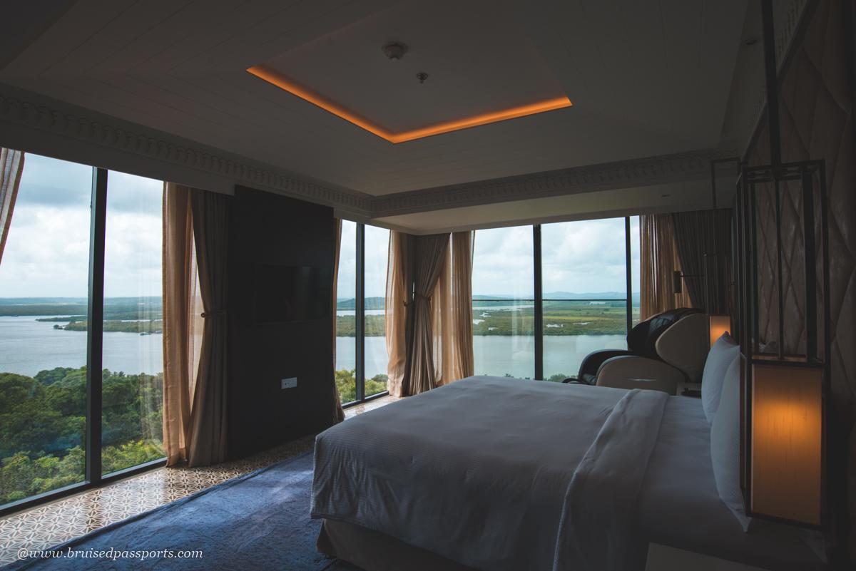 bedroom at Double Tree Hilton Goa Panaji Presidential Suite