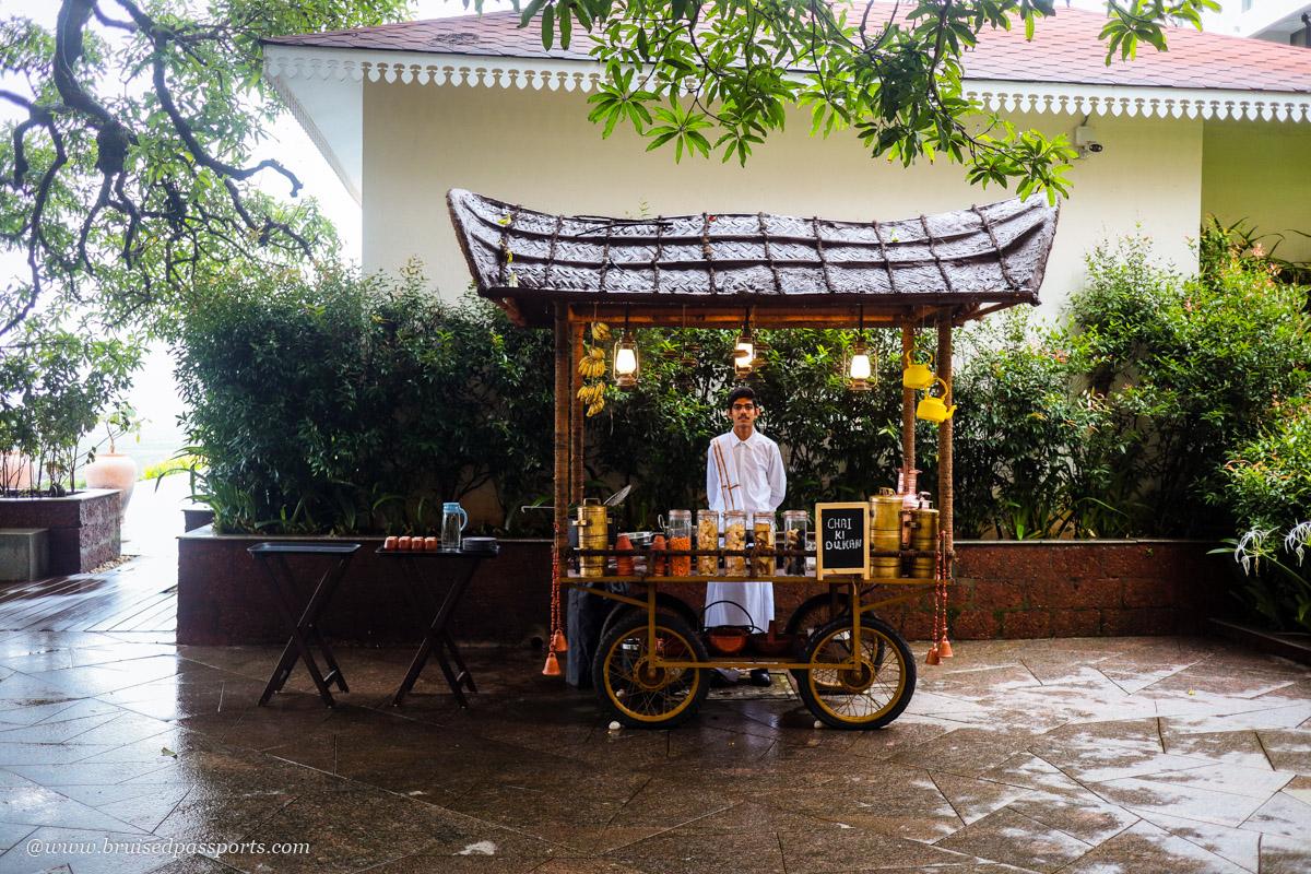pop up chai stall at double tree hilton goa
