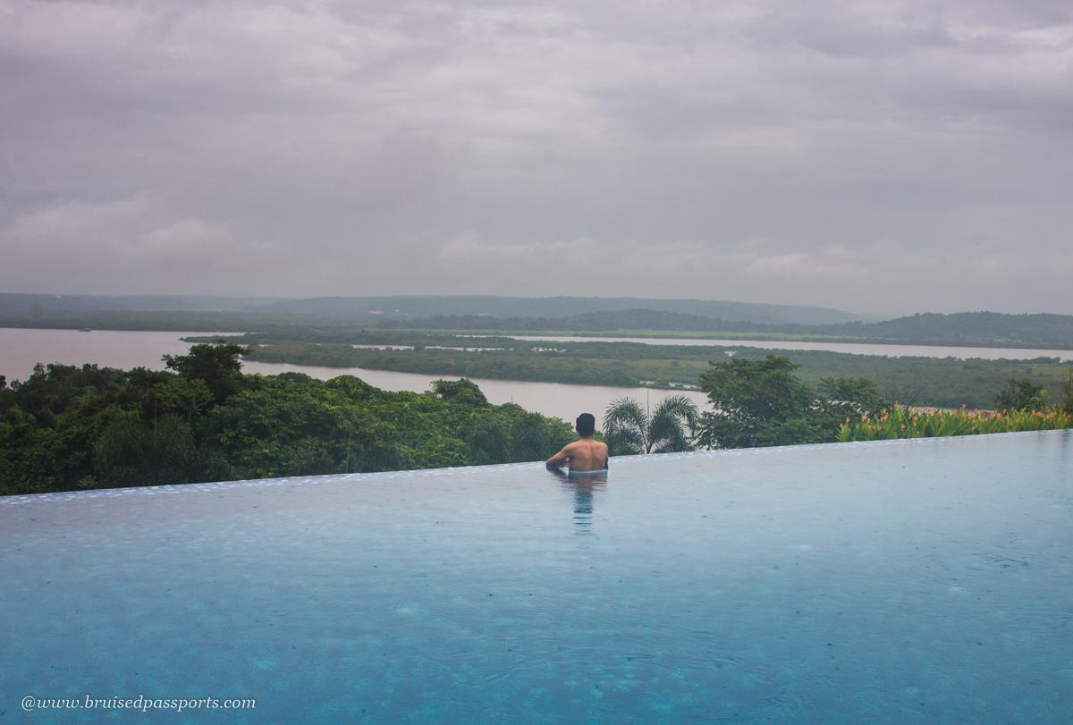 infinity pool at Double Tree Hilton Goa Panaji