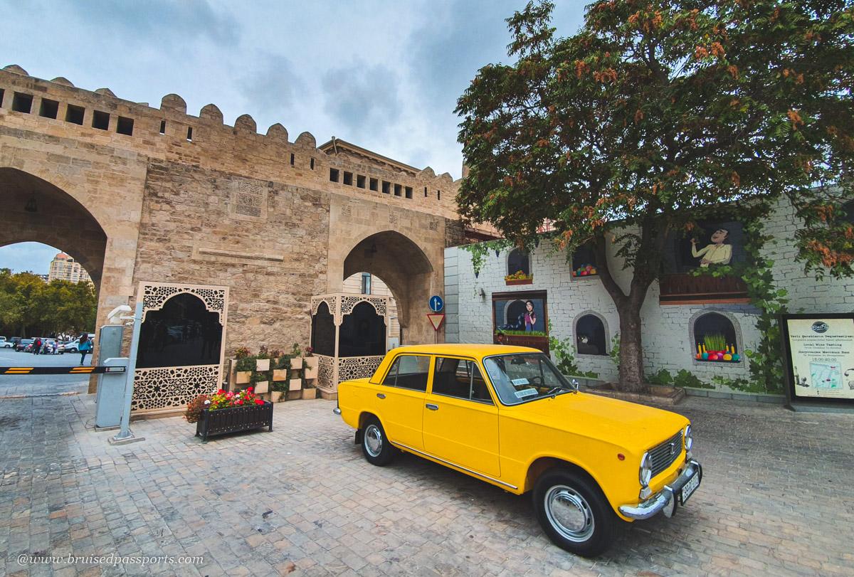 Lada russian car in Azerbaijan
