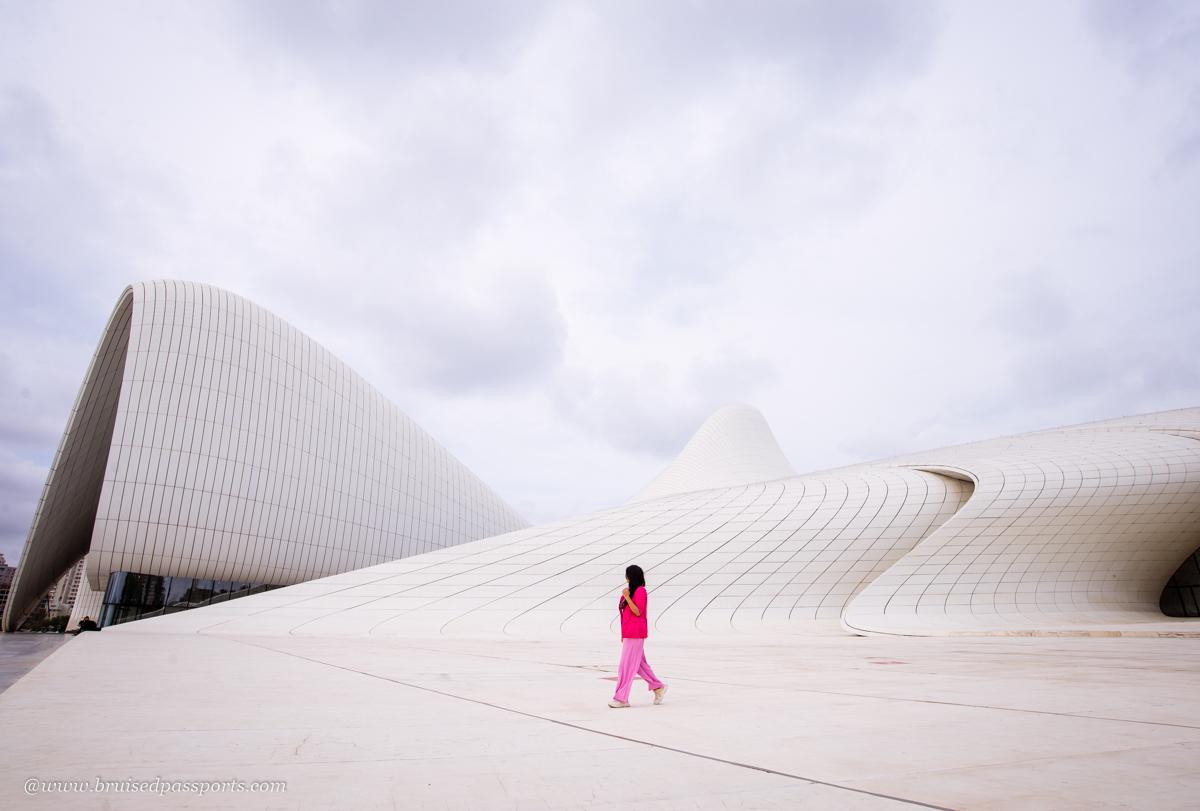 heydar aliyev cultural centre in Baku Azerbaijan