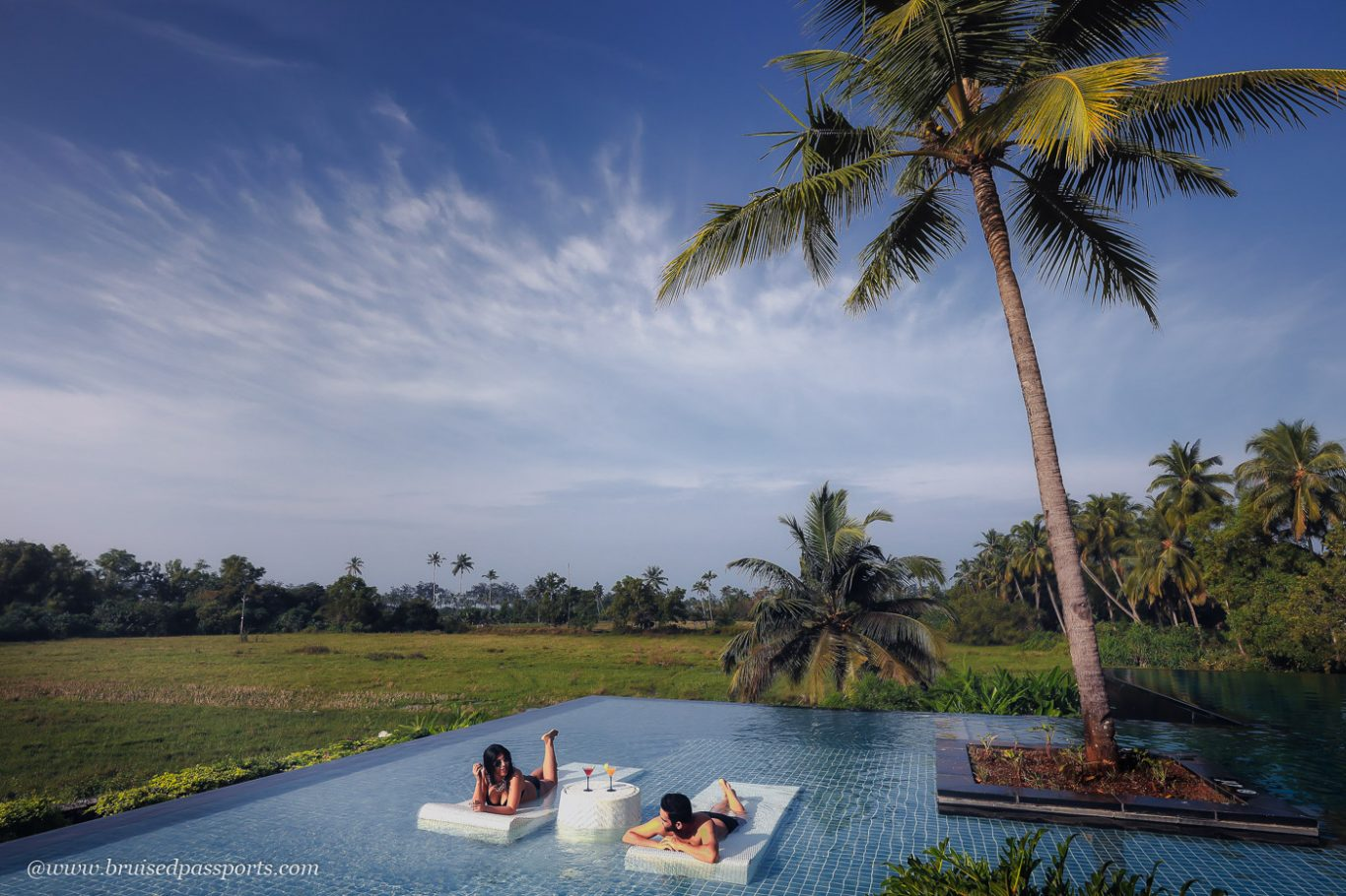 infinity pool at Alila Diwa Goa