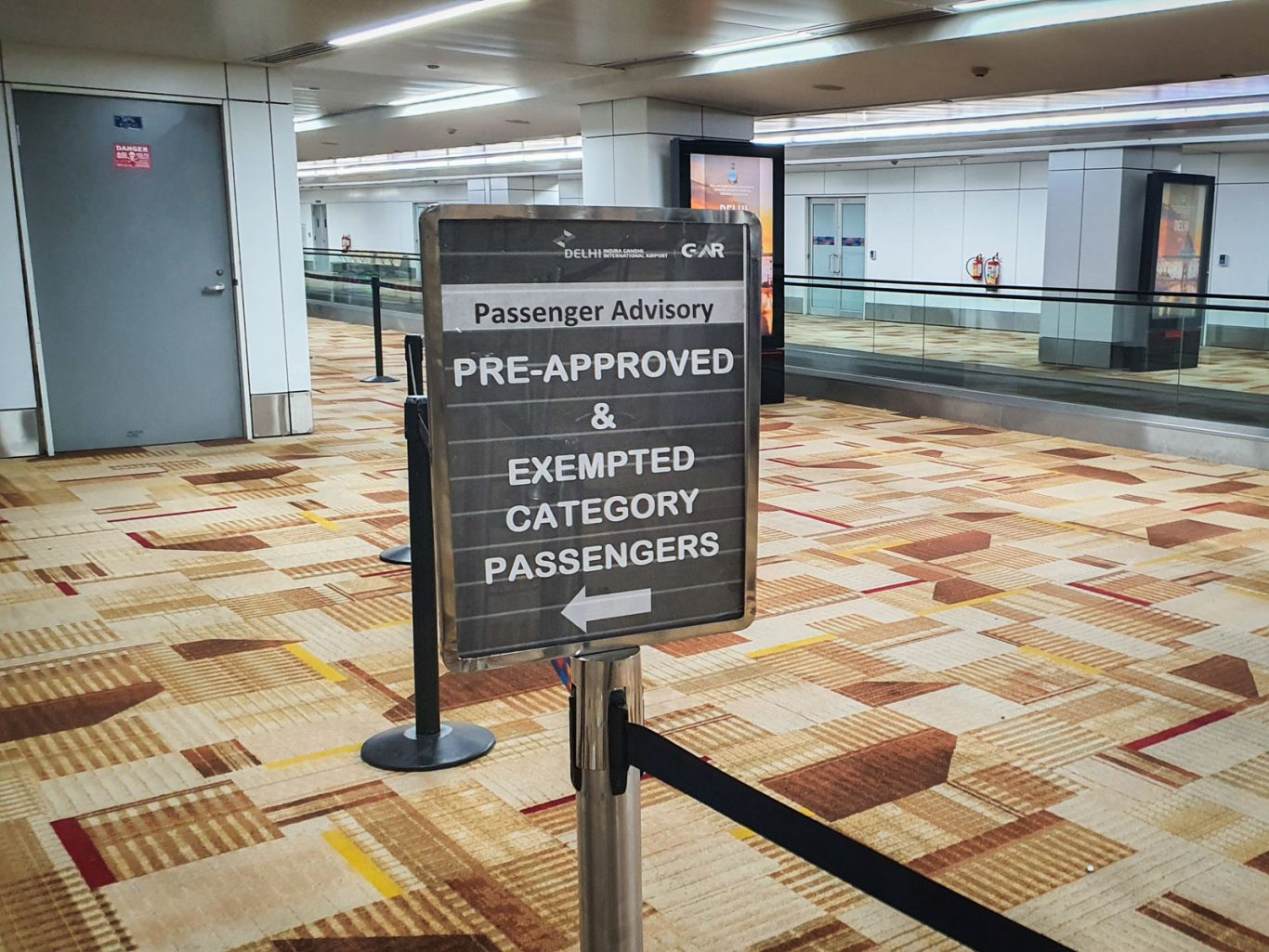 separate queue for pre-approved and exempted passengers at delhi airport