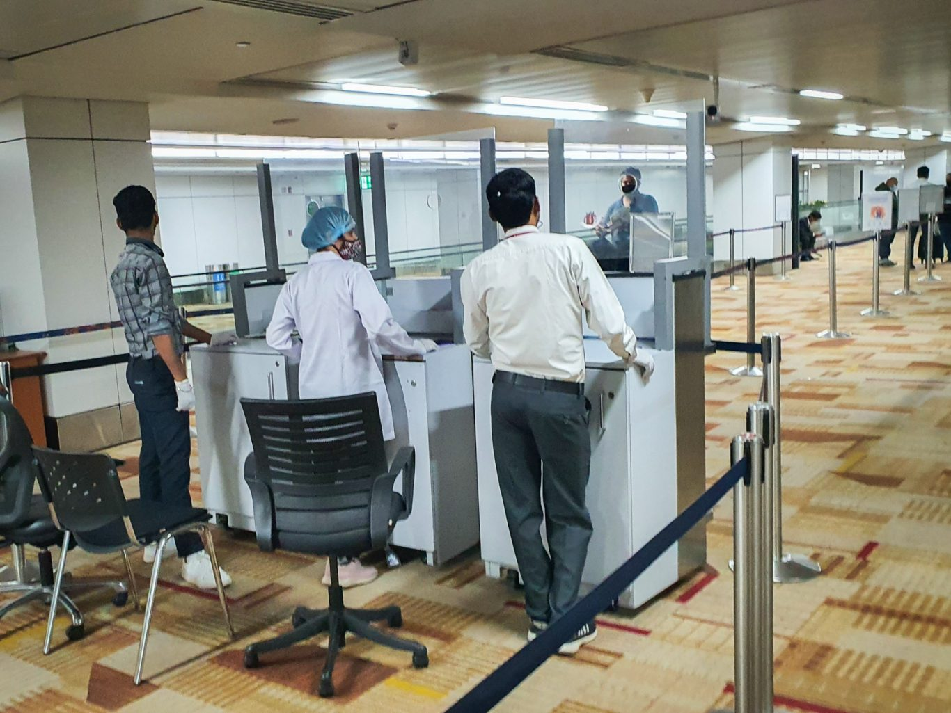 New Delhi airport exemption from quarantine on arrival